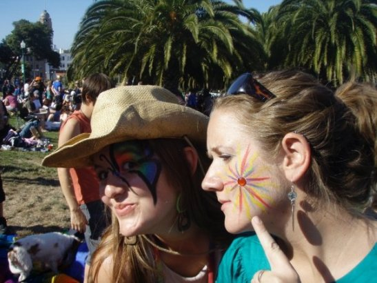 2B. And after the Alaska ferry we went to PRIDE in San Francisco with a bunch of our old gal pals!