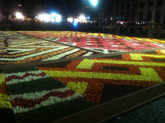 That time the Brussels flower carpet was African style. A cultural crossroads kind of makutano.